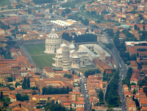 picture of pisa from above